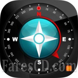 تطبيق البوصلة   Compass 54 (All-in-One GPS, Weather, Map, Camera) v2.7   أندرويد